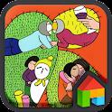 ファン・ジュリ_植物学(美術)LINEランチャーテーマ icon