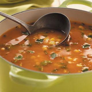 Fresh Corn and Tomato Soup Recipe