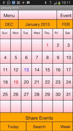 Calendar Me USA 2015