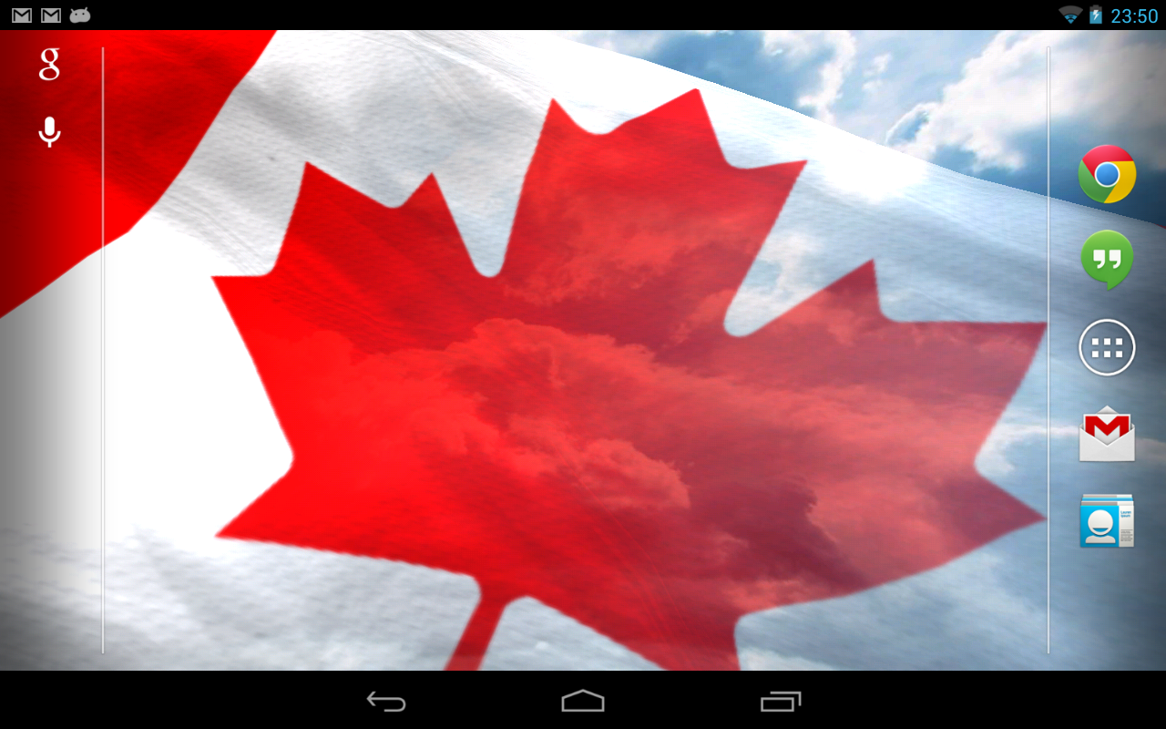 Na flags live wallpaper android apps on google play - Canada flag 3d wallpaper ...