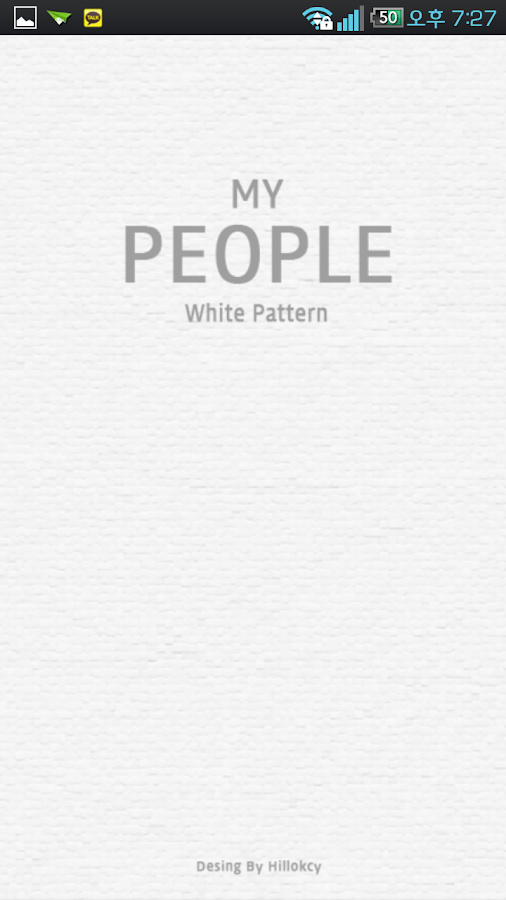 My people theme white pattern - screenshot