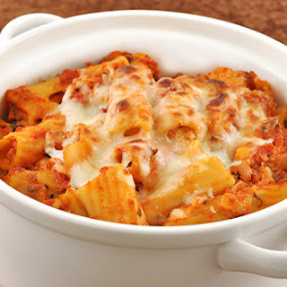 Baked Rigatoni with Pancetta and Basil