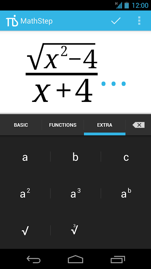 MathStep: captura de pantalla