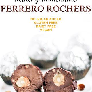 Healthy Homemade Ferrero Rochers (low sugar, gluten free, vegan)