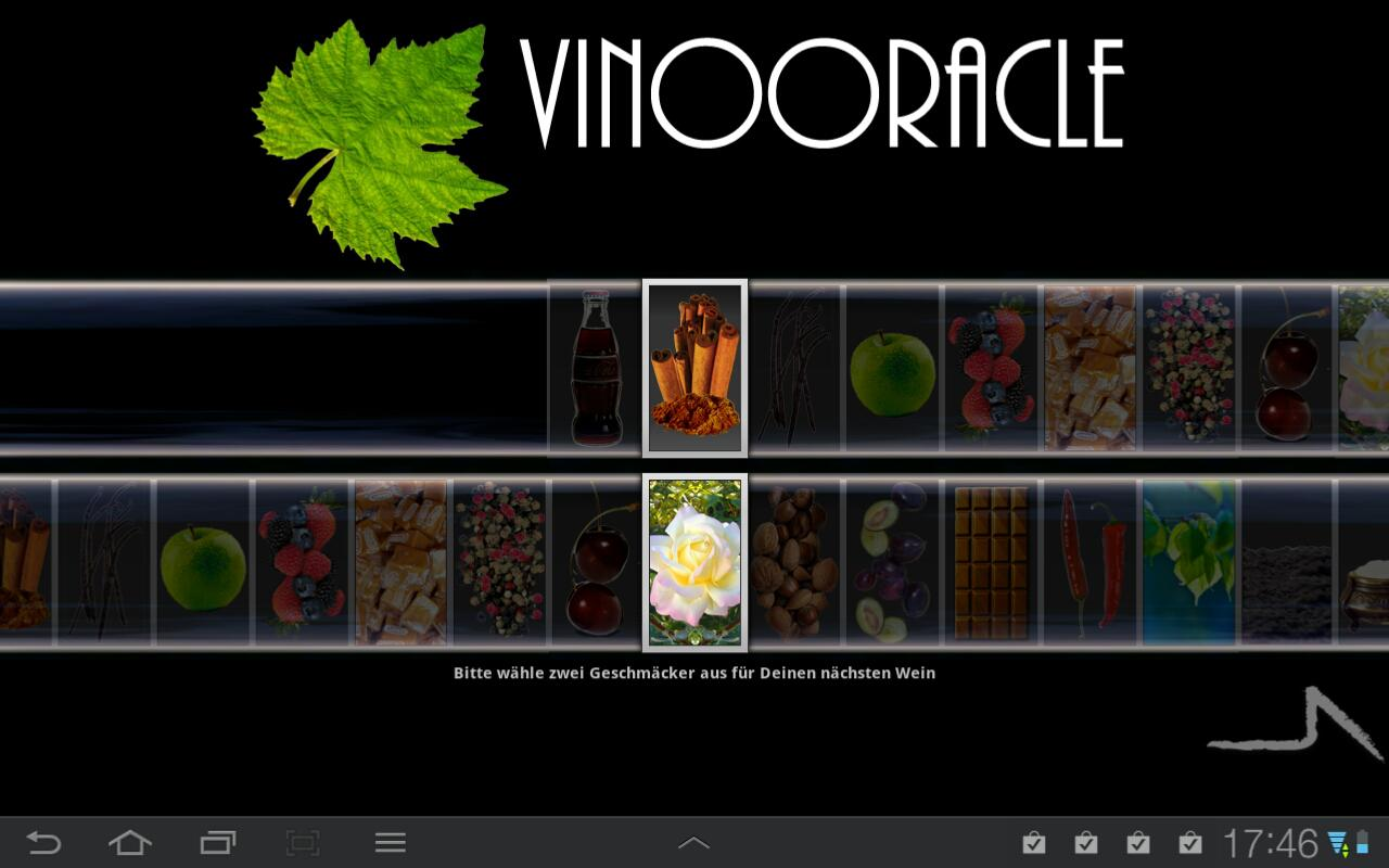 Taste2Wine - wine pairing - screenshot