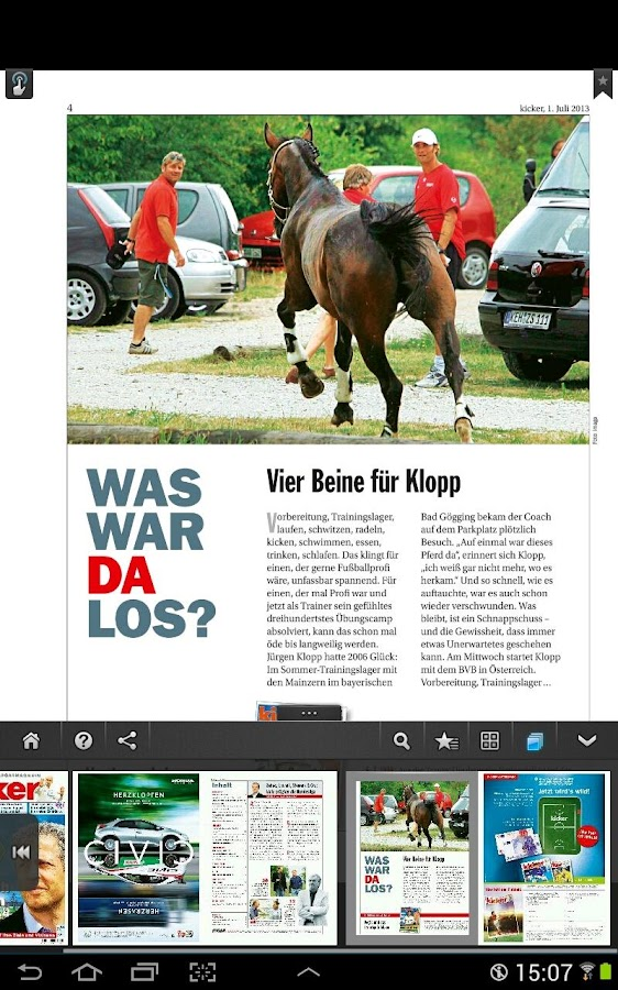 kicker eMagazine - screenshot