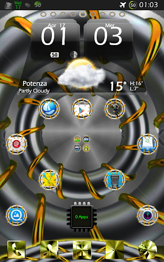 GOLD RING Theme Go Launcher Ex