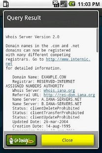 RD Whois - screenshot thumbnail