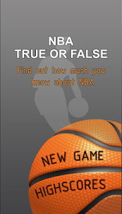 NBA Quiz - True or False - screenshot thumbnail
