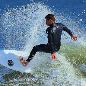 Hang On! by Dominick Darrigo - Sports & Fitness Surfing