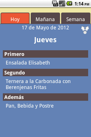 Comedores Universitarios GR - screenshot