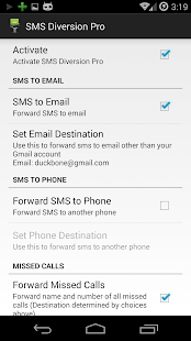 SMS Diversion Pro - screenshot thumbnail