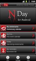 Screenshot of NDay Anniversary Calendar Free