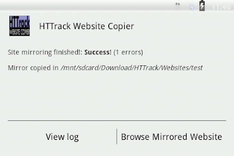 HTTrack Website Copier- screenshot thumbnail
