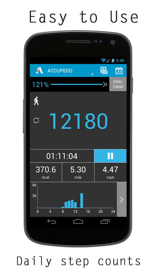 Accupedo-Pro Pedometer - screenshot