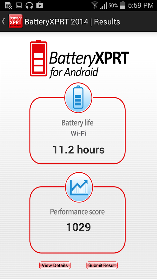 BatteryXPRT 2014 for Android- screenshot
