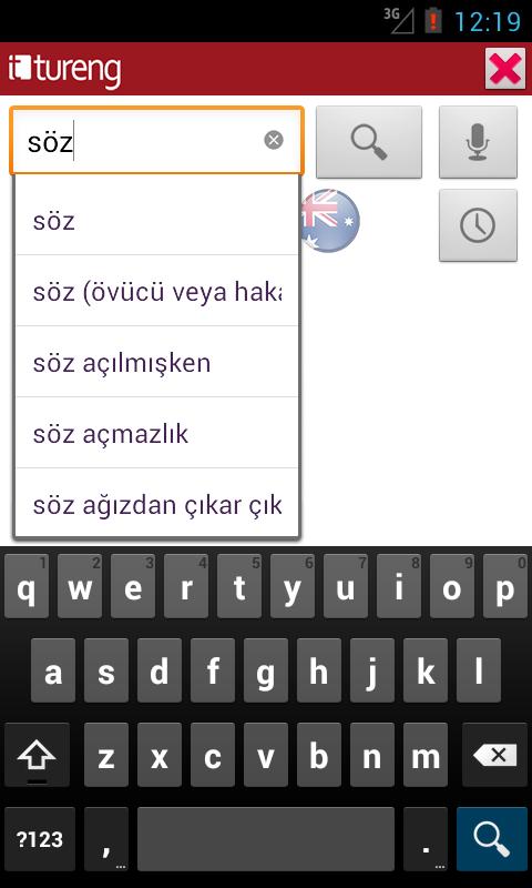 Tureng Sözlük - screenshot