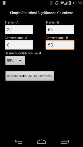 A B Significance Calculator