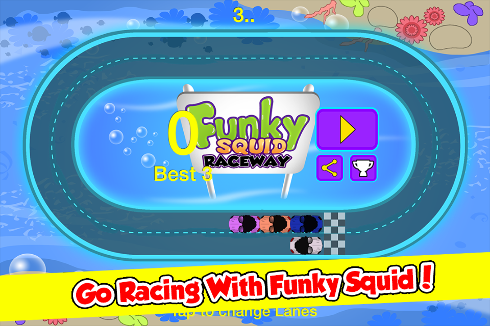 Funky Squid Goes Racing- screenshot