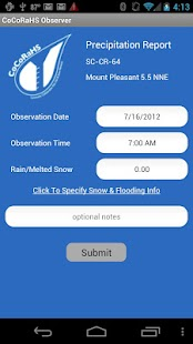 CoCoRaHS Observer- screenshot thumbnail