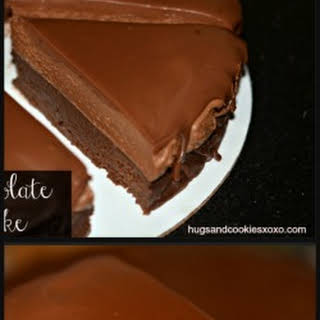 Frozen Chocolate Mousse Layer Cake.