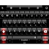 Theme TouchPal Dusk Black Red