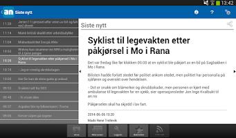 Screenshot of Avisa Nordland