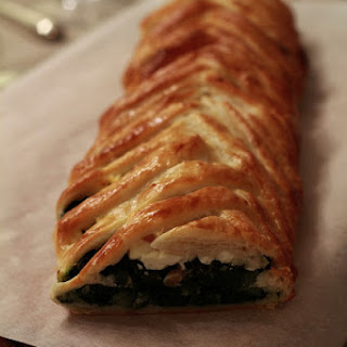 Feta, Chard, and Pine Nut Pastry Braid Appetizer