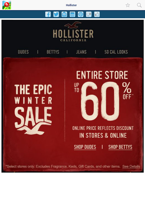 Holiday Shopping Deals Coupons- screenshot