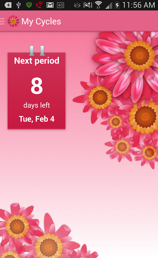 My Cycles Period and Ovulation - screenshot