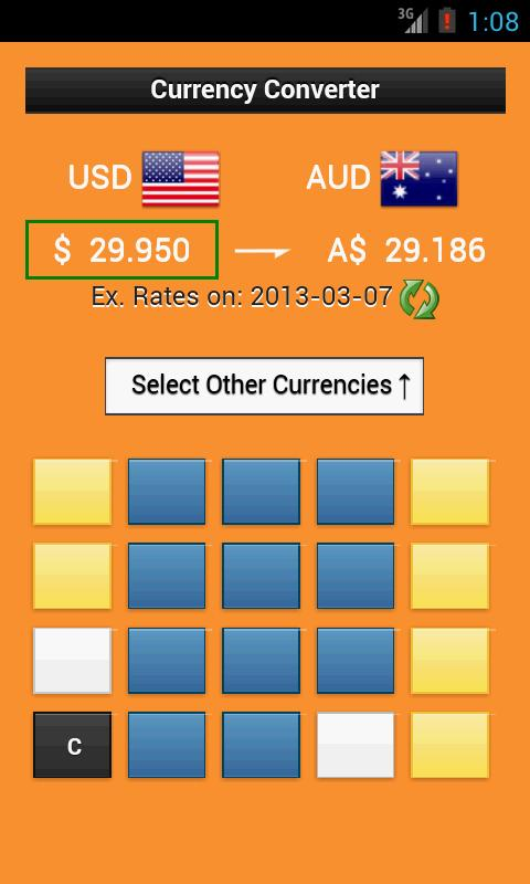 Currency Converter Calculator - screenshot
