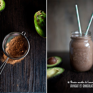 Avocado and Chocolate Smoothie.