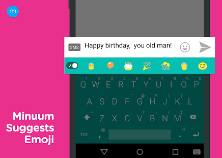 Minuum Keyboard Free + Emoji Capture d'écran