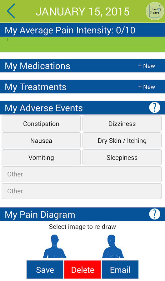 My Opioid Manager- screenshot