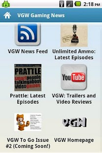VGW Gaming News - screenshot thumbnail