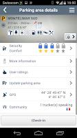 Screenshot of TRANSPark truck parking areas