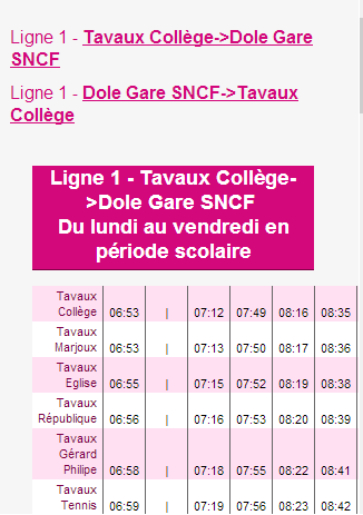 RESEAU TGD DOLE- screenshot