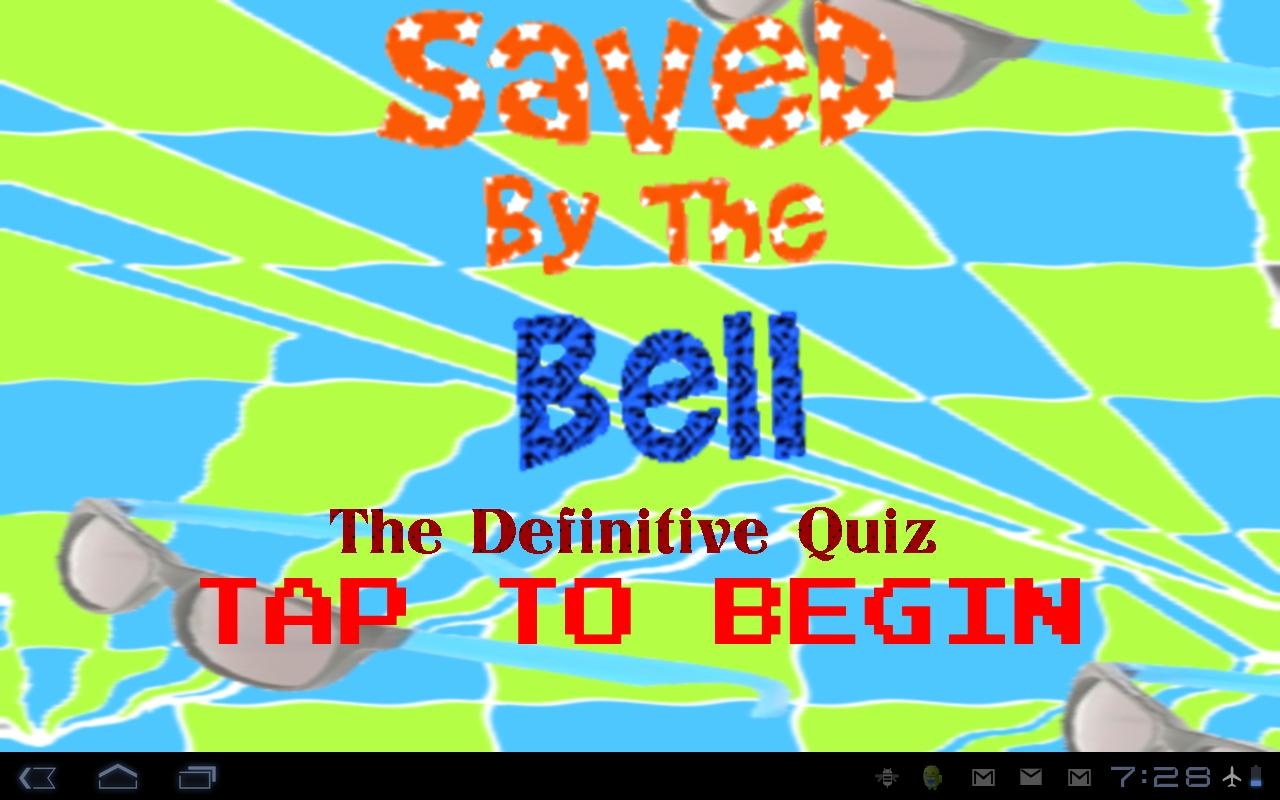 Saved By The Bell Quiz- screenshot