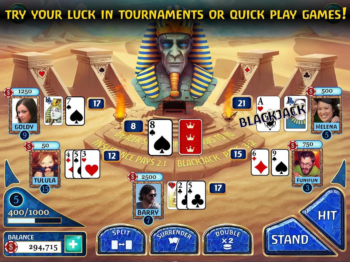 Blackjack game app