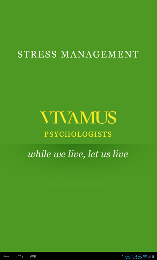 Stress Management- screenshot