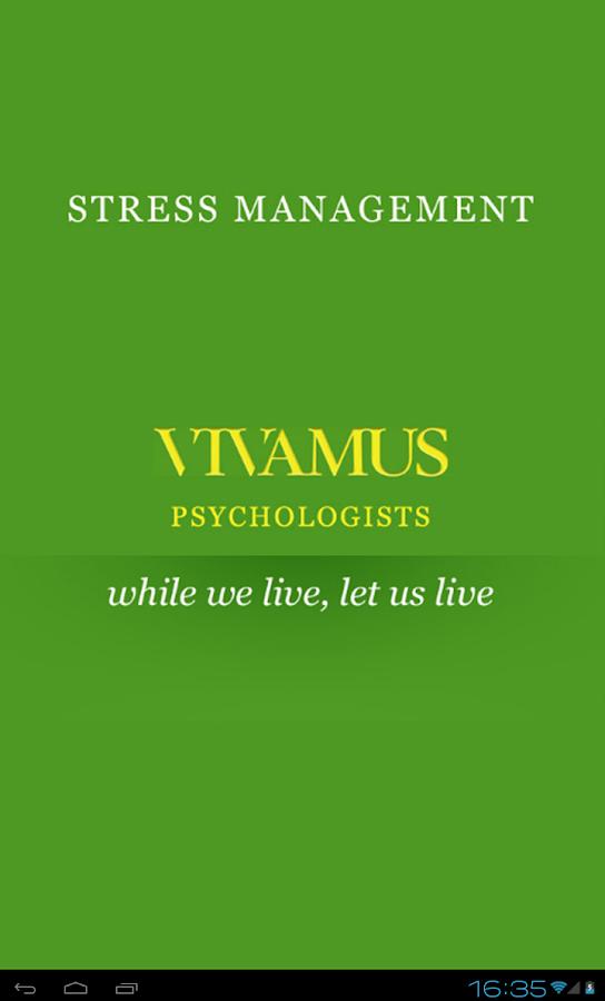 Stress Management - screenshot