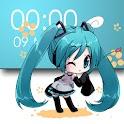 Miku Chibi Clock Widget (FREE) logo