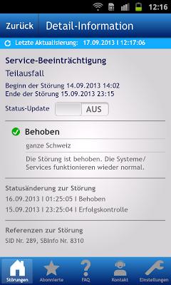 Swisscom Service Inspector - screenshot