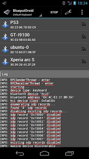BlueputDroid 1.5.0 screenshots 1