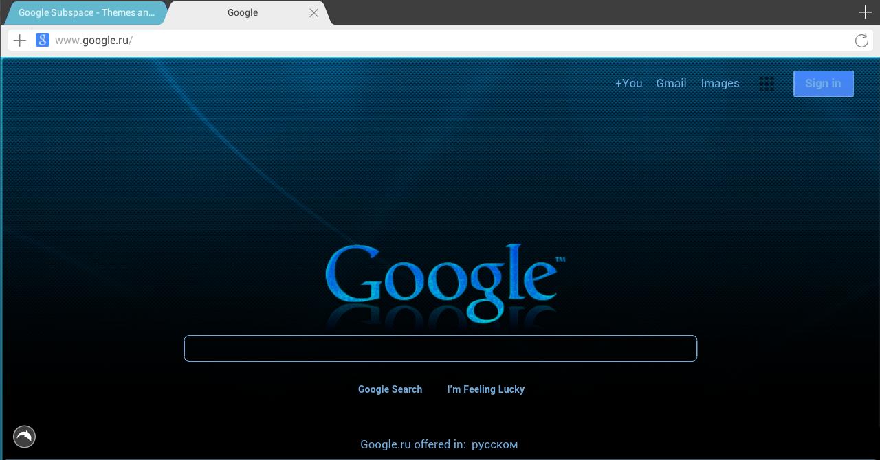 Google themes with stylish - Stylish For Dolphin Screenshot