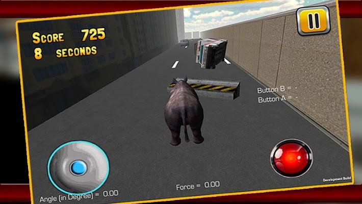 Angry Rhino Simulator 3D - screenshot