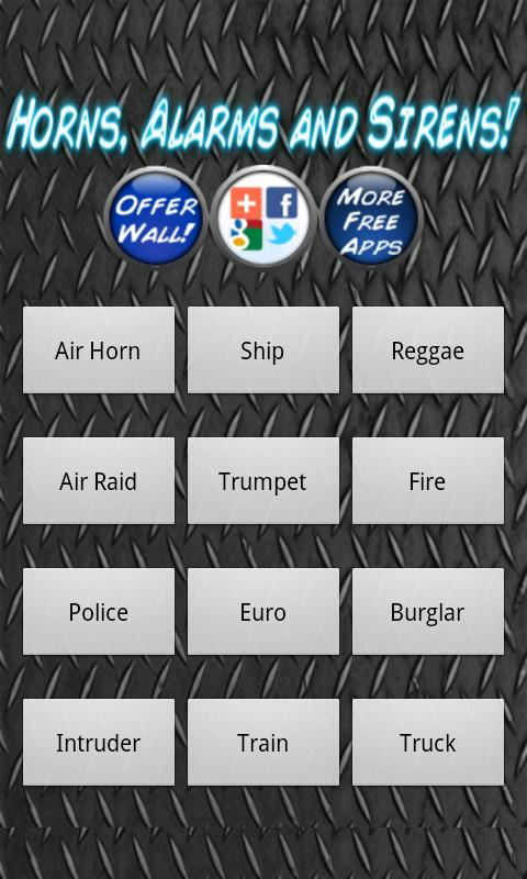 Horns Alarms and Sirens - screenshot