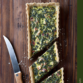 Spinach Bacon Goat Cheese Tart