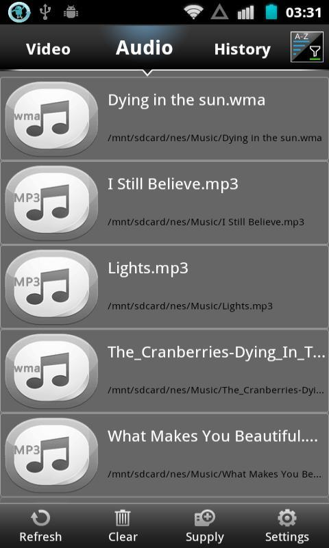 MP3 WMA WAV Music Player - screenshot