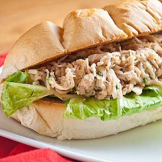 Slow Cooker Chicken Caesar Salad Sandwiches